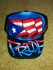Airbrush Trucker Hat Puerto Rican Flag, Puerto Rico Hat, Puerto Rico Pride Hat