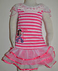 New Girls Sofia the First Top and Skirt Hot Pink Set Size 1,2,3,4,5,6