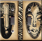 Light Switch Plate Cover - African masks nation - Culture people collectivity