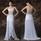 Super Sexy Strapless Wedding Formal Ball Gowns Evening Pageant Prom Party Dress