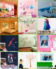 Disney Frozen Wall Stickers Princess Castle Carriage Removable Minions Home Art
