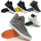 MENS HI TOPS TRAINERS DESIGNER BOYS ANKLE FLAT PUMPS QUILTED FASHION SHOES SIZE