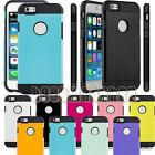 """for apple iphone 6 6s  case cover 2 layer black white hot pink blue green / 4.7"""""""