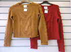 Ladies New Look Red/Camel Knitted Jumper Sizes 6 - 16  CROP CABLE