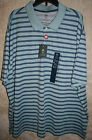 NWT Arrow L/S Sleeve 3 Button Polo shirt Colors Solid Stripe soft Poly Blend
