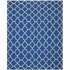 Safavieh Hand-Woven Dhurrie Dark Blue/ Ivory Wool Area Rugs - DHU566A