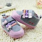 Baby girl casual classic bow Crib Shoes soft soled Shoes Size 0-6-12-18 month