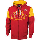 Kansas City Chiefs MENS Full Zip Up Sweatshirt Fair Catch Red/Yellow G-III $45.49 USD on eBay