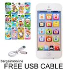 Y-Phone Kids Learning TOY i Phone 4s 5 Childs & USB Cable Christmas Xmas Present