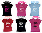 JLS NAMES ASTON MARVIN ORITSE JB  LADIES T-SHIRT  X FACTOR FUN BIRTHDAY GIFT