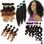 "[US]STOCK Lot 100g MALAYSIAN/PERUVIAN/BRAZILIAN HUMAN HAIR BODY/CURLY WAVE14""20"""