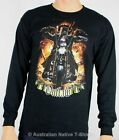Ned Kelly Motorcycle Rider Long Sleeve T-Shirt - Sizes 92cm to 140cm Chest! NEW