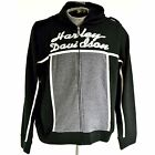 HARLEY DAVIDSON WOMENS ZIP UP HOODED SWEATSHIRT BLACK/GREY M, 2XL, 1W, 2W, 3W