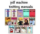 Brother Knitking CompuKnit Knitting Machine Manuals on CD