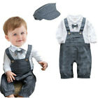 Baby Infant Boy Classic Formal Suit & Hat Set, Elegant Fashion Checked / Brown