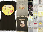 PRIMARK LADIES MONKEY EMOJI  IPHONE T SHIRT TOP LEGGINGS or SHORTS UK 6 - 20