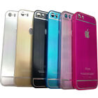 Luxury Chrome Hard Back Case Cover Frame For iPhone 6 5 5S 4 4S Beautiful Color