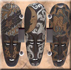Light Switch Plate Cover - Three african mask - Africa art modern wall decor set