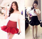 ♡IT♡ Ruffle Off-shoulder Top Skirt Bodycon Mini Fishtail Flounced Tulle Sexy