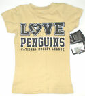 NHL Pittsburgh Penguins Hockey Toddler Girls T-Shirts Size 2T, 3T and 4T NWT
