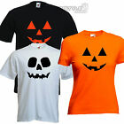 Halloween Fancy Dress t-shirt costume funny PUMPKIN or SKULL Face