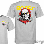 "POWELL PERALTA ""Ripper"" Skateboard T-Shirt  Grey Choose- S M L XL Bones Brigade"