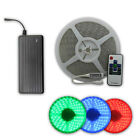 1-20M RGB 5050 SMD LED Strip Light Flexible Waterproof RF Remote + 12V Power