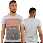 Hollywood Print Fitted T-Shirt Urban life By Monkey Business Hip Hop Grey