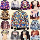 Hot 2014 Womens Mens 3D realistic Space Galaxy hoodie T shirt sweater Sweatshirt