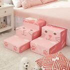 Pinky Pet Stairs Steps PINK Soft Fleece Hand Wash Removable Cover 2steps 3steps
