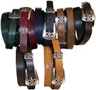 "FRONHOFER skinny belt 2cm 0.78"", metal buckle loop, Eco leather, plus size belt"