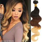 """4Bundles New Brazilian Ombre Human Hair Extension 12""""-30"""" Body Wave Remy Wefts"""