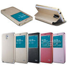 Magnetic Flip Leather Stand Aluminum Bumper Case Cover for Samsung Galaxy Note 3