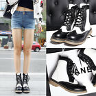 Womens Ankle Boots Knight Riding Lace Up Sweet Vintage Retro Fashion Hot Shoes