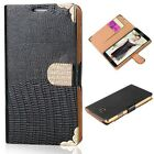 Bling Diamond PU Leather Card Wallet Stand Flip Case Cover For Samsung Galaxy S5