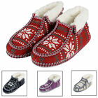 Ladies Boot Slippers - Fairisle Knit Booties With Non Slip Sole - A Great Gift!