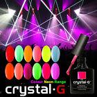 BRAND NEW Crystal-G NEON COLOURS GLOW IN DARK UV/ LED SOAK OFF GEL NAIL POLISH