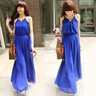Fashion Women Jumpsuit Sleeveless Sexy Wide Loose Full Leg Pants Coverall 5color