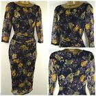 NEW M&S COLLECTION MARKS & SPENCER BLACK LACE MESH FLORAL PARTY SIZE 8 - 18