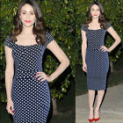 CLEARANCE Vintage  60s Polka Dot Rockabilly Pin Up Evening party casual Dress