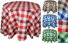 "High Quality ""GINGHAM"" Linen Look Tablecloth: Round,Square available 4 colours"