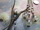 Real/Genuine Dandelion Seed Flower Pearl  Necklace-Wish Gift. Dandelion Pendantt