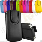 Leather Magnetic Button Flip Pull Tab Case Cover For Allview P6 Quad Plus