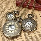 Kyпить Vintage Roman Numerals Bronze Quartz Pocket Watch Pendant Necklace Chain 3 Size на еВаy.соm