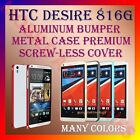 ACM-ALUMINUM BUMPER METAL CASE COVER SCREWLESS FRAME for HTC DESIRE 816G MOBILE