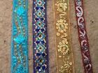 Embroidered & sequins organza/ribbon 4 colours £2.75/metre by V & A