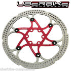 UBERBIKE FLOATING DISC BRAKE ROTOR 6 BOLT 203mm 180mm 160mm – RED/BLACK