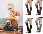Women's Crochet Knitted Stocking Leg Warmers Boot Cover Lace Trim Legging Socks
