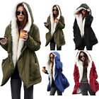 Women's Winter Jacket Outwear Faux Fur Parka Coat Fleece Trench Cardigan Hoodies