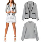 New Womens Ladies Stylish Casual Long Sleeve Slim Suit Coat Jacket Blazer Suits